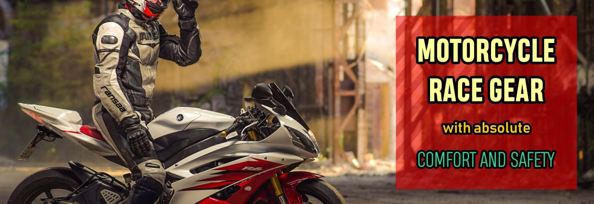 motorcycle gear banner